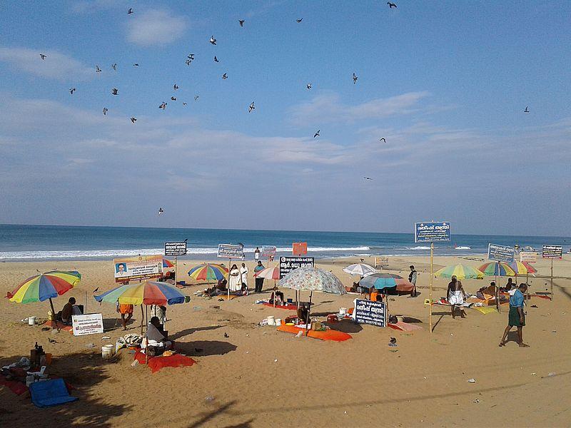 Варкала ритуальный пляж