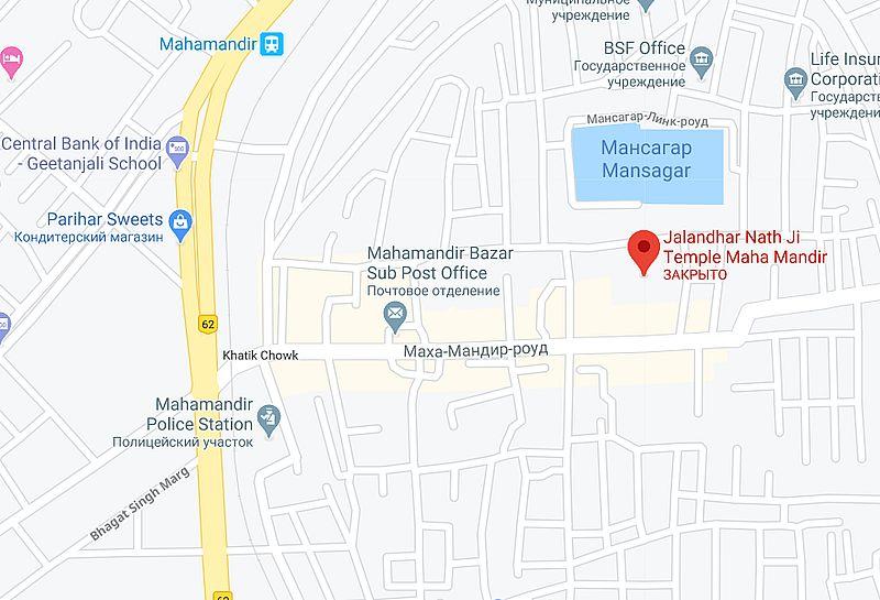 Махамандир карта