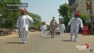 Корона-копы в Дели