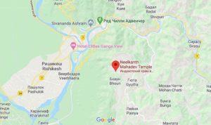 Карта Нилкантха Махаев Храм
