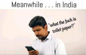 Туалетная бумага в Индии