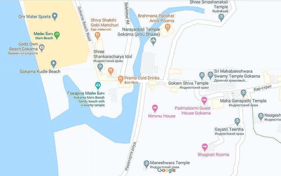 Карта Гокарны
