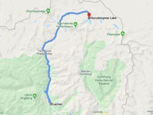 Озеро Гурудогмар карта