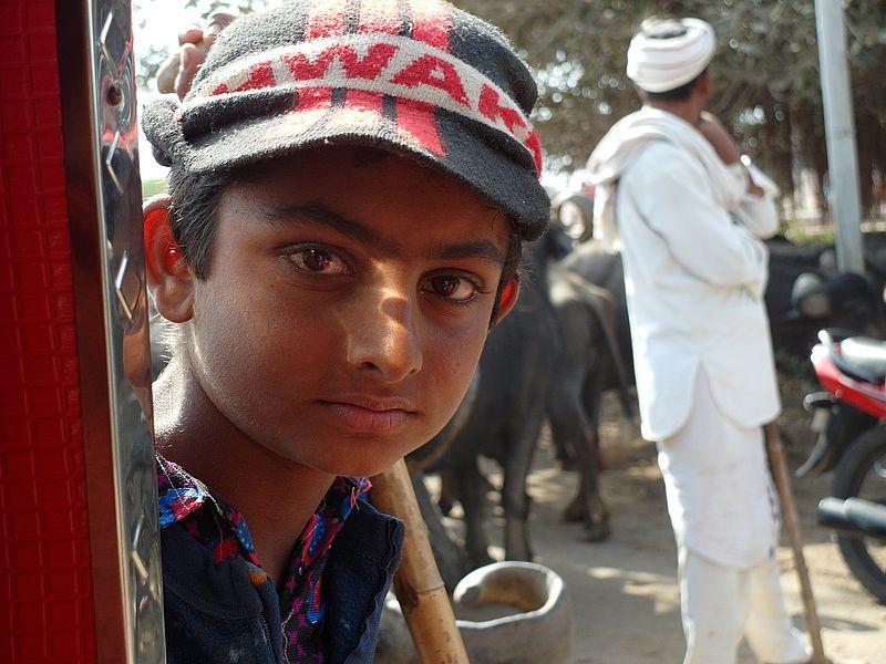 Мальчик в Индии