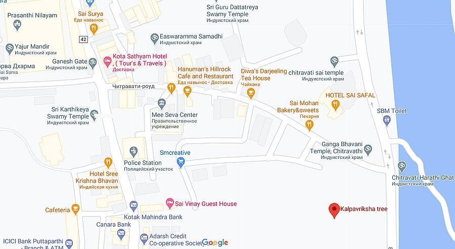 Карта Путтапарти