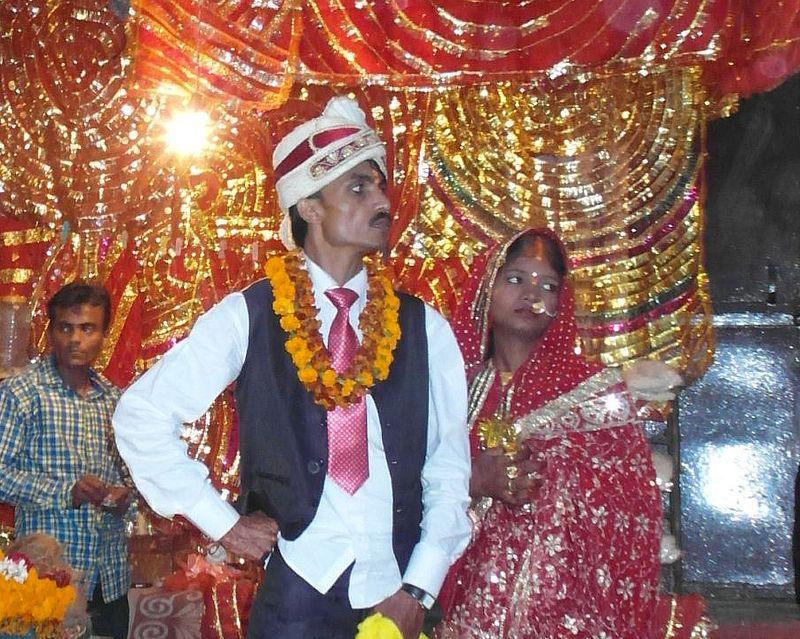 Новобрачные в Индии