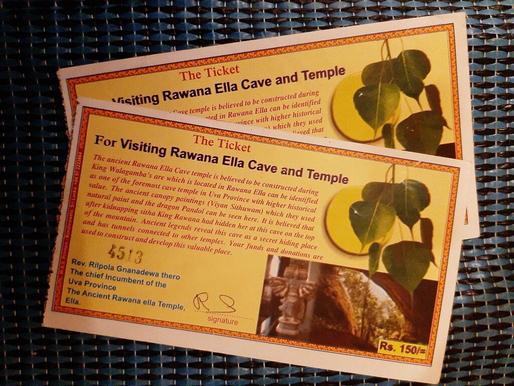 Билеты в пещеру Раваны