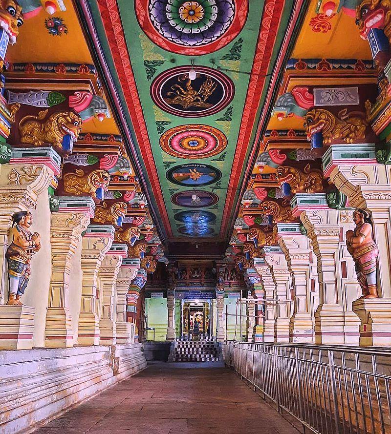 Коридоры храма Рамешварам