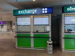 Обмен валют в аэропорту