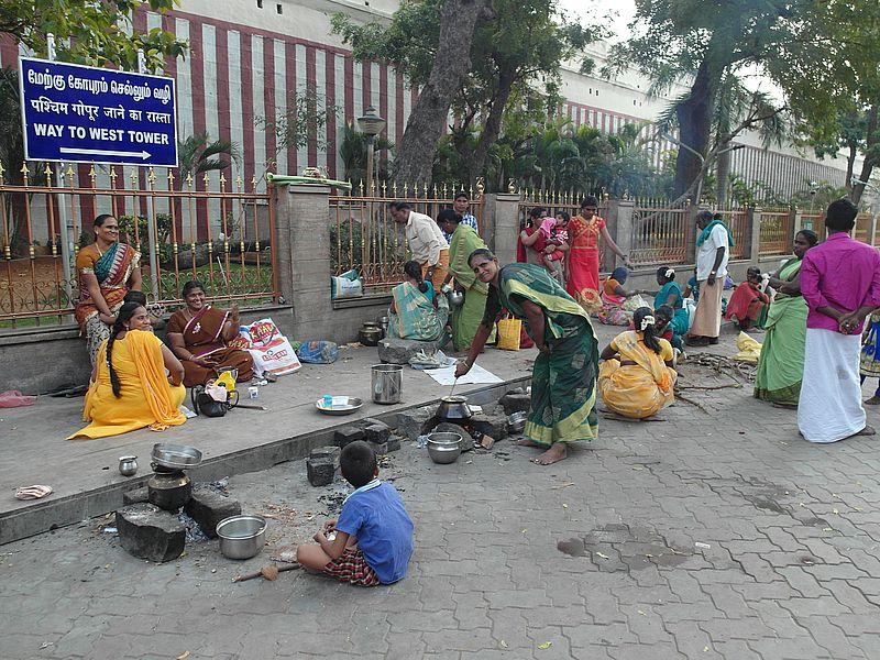Еда в Индии треш