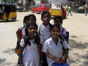 Школьники в Индии