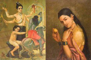 Картины Raja Ravi Varma